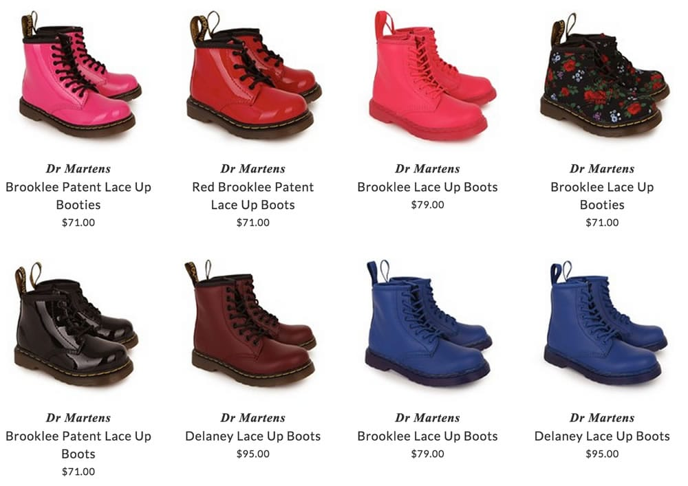 Dr Martens children footwear