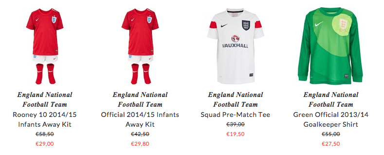 England National Football Team children sport wear