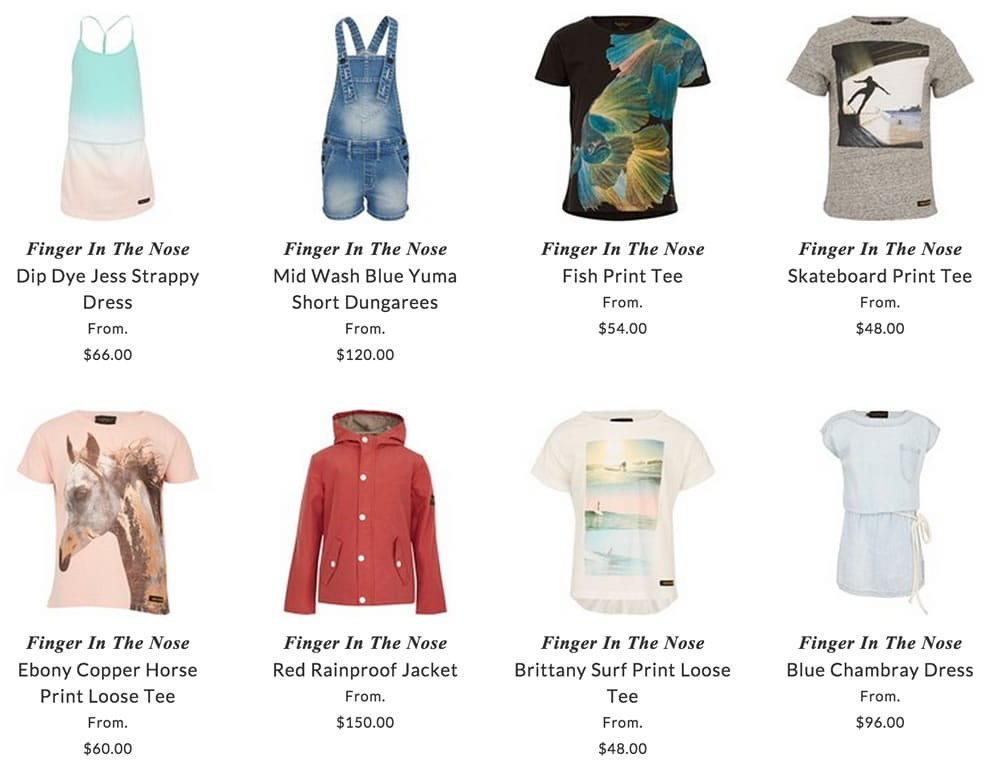Finger In The Nose children clothing
