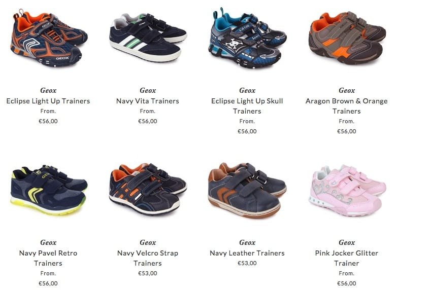 Geox children footwear