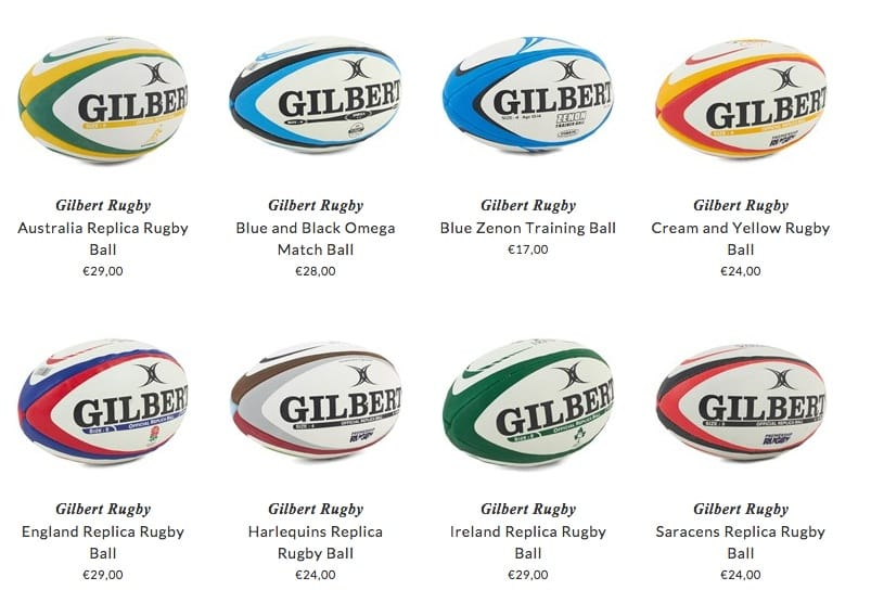Gilbert Rugby kids clothing & accessories