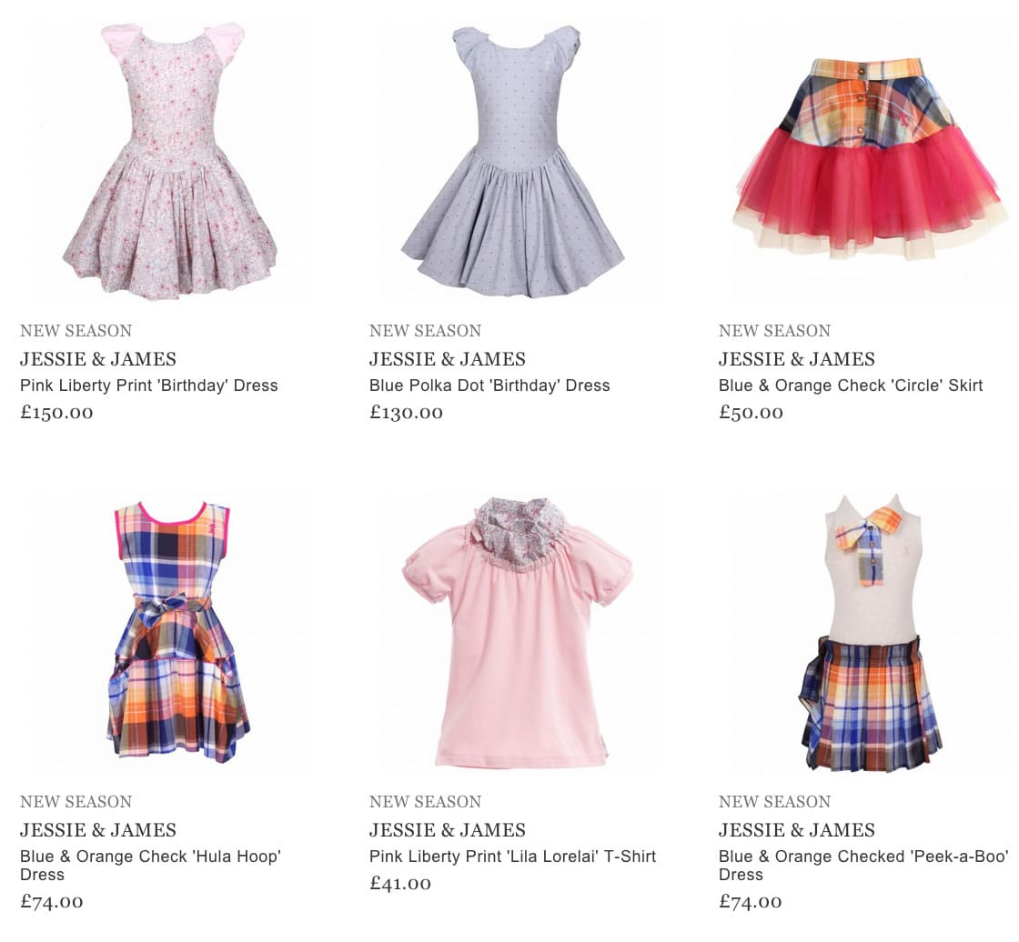 Jessie and James Children Clothes