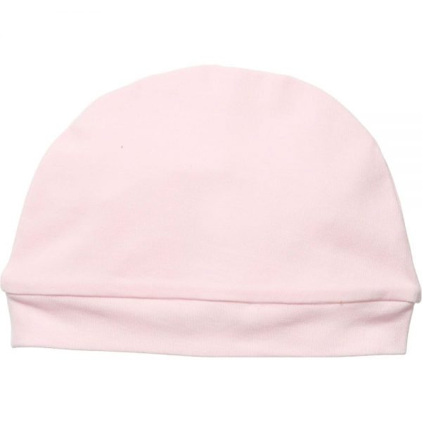 0f9da168c LIU JO Pink Cotton Jersey Baby Hat with Diamante Logo