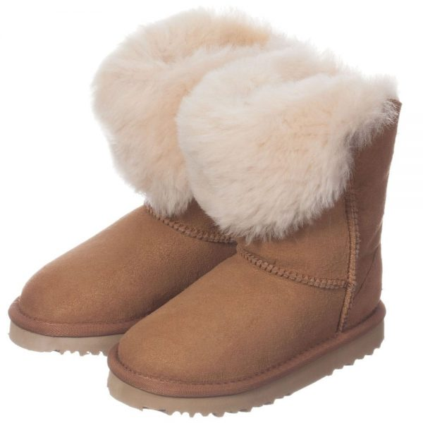 LOVE FROM AUSTRALIA Brown Unisex Sheepskin 'Jezabel' Boots3