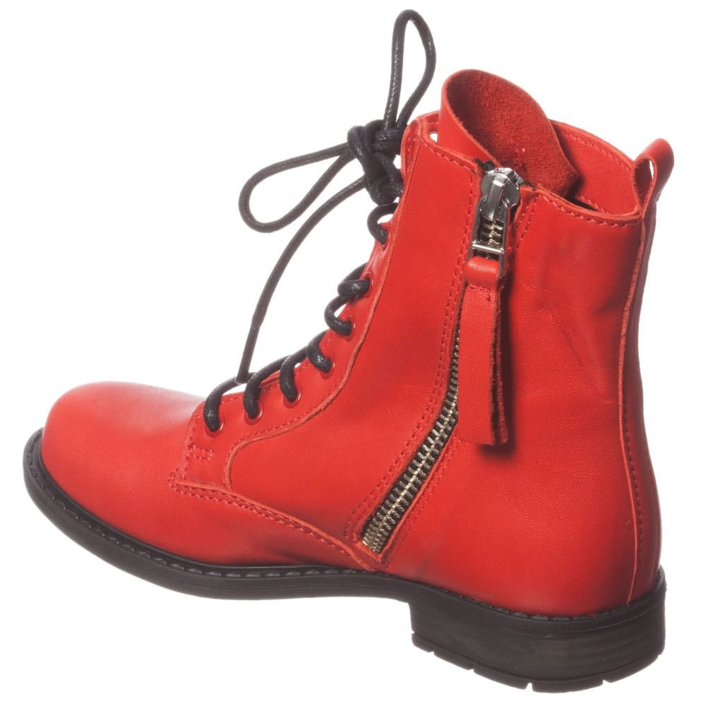 girls red boots