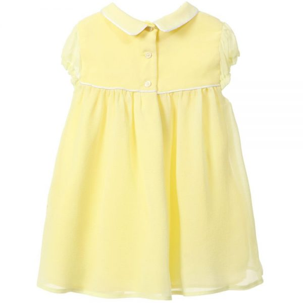 MARIE-CHANTAL Baby Girls Yellow Silk Dress
