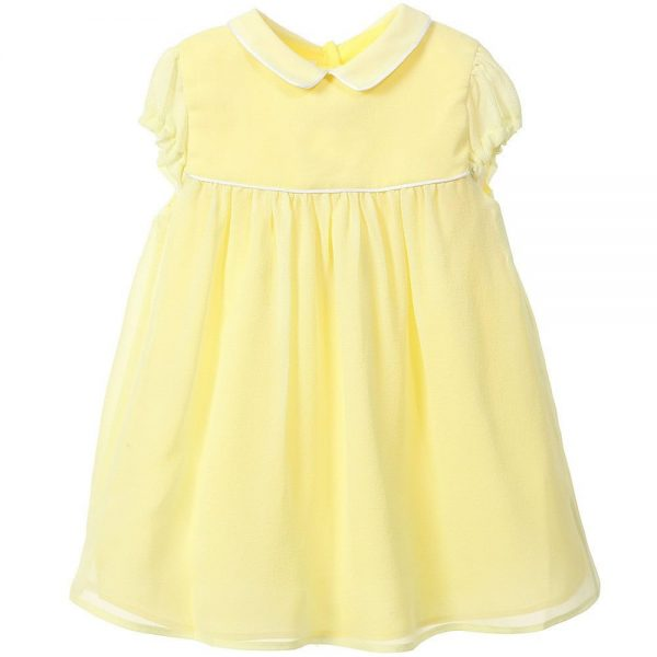 MARIE-CHANTAL Baby Girls Yellow Silk Dress1