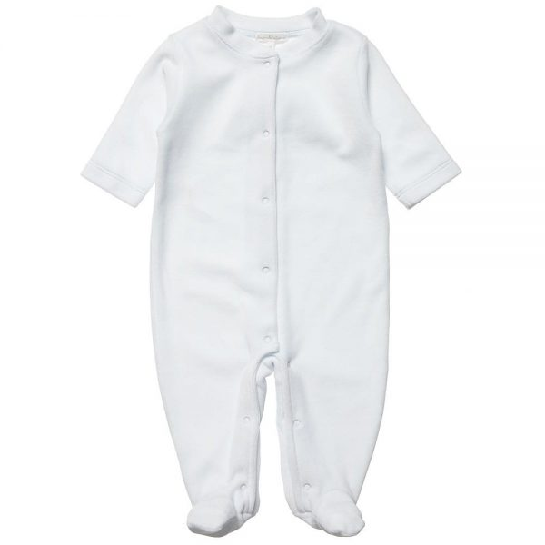 MARIE-CHANTAL Blue Velour Babygrow with Angel Wings2