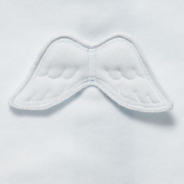 MARIE-CHANTAL Blue Velour Babygrow with Angel Wings3