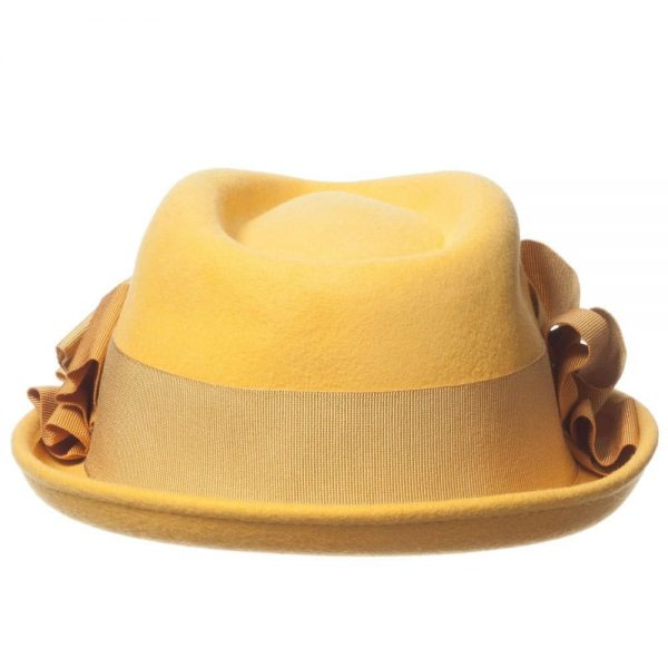 MI MI SOL Girls Yellow Felt Hat1
