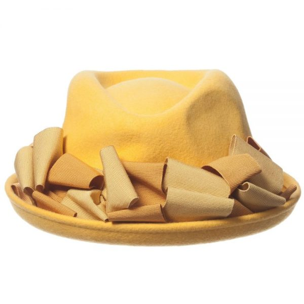 MI MI SOL Girls Yellow Felt Hat3