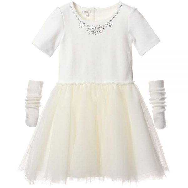 MICROBE BY MISS GRANT Jersey and Tulle Dress1