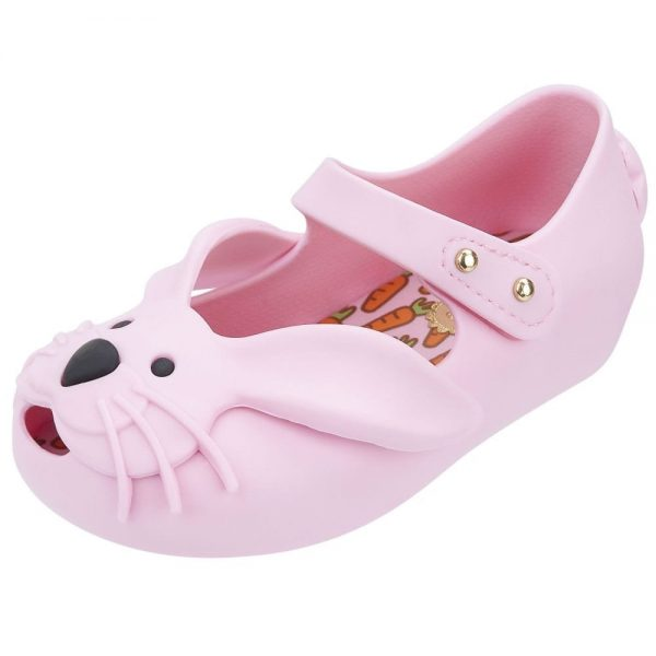 MINI MELISSA Girls Pink Rabbit Jelly Shoes