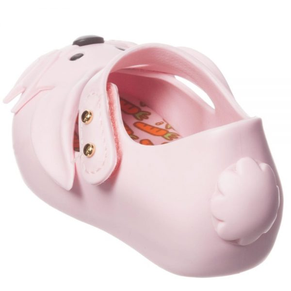 MINI MELISSA Girls Pink Rabbit Jelly Shoes3