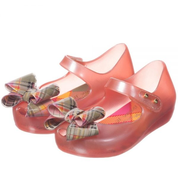 MINI MELISSA Girls Pink Vivienne Westwood Jelly Shoes1
