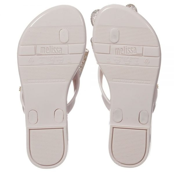 MINI MELISSA Ivory Jelly Flip-Flops with Bow1