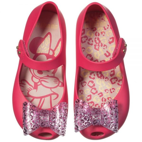 MINI MELISSA Pink Minnie Mouse Jelly Shoes with Bow3