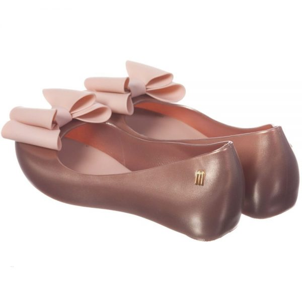 MINI MELISSA Pink Slip-On Jelly Shoes with Bow1