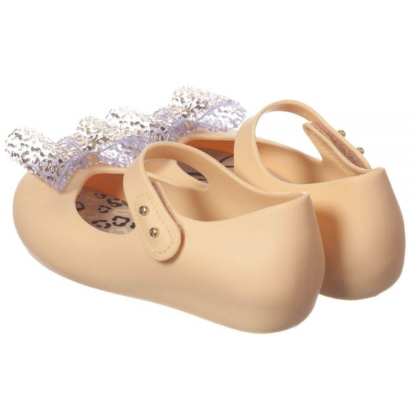 MINI MELISSA Yellow Minnie Mouse Jelly Shoes with Bow