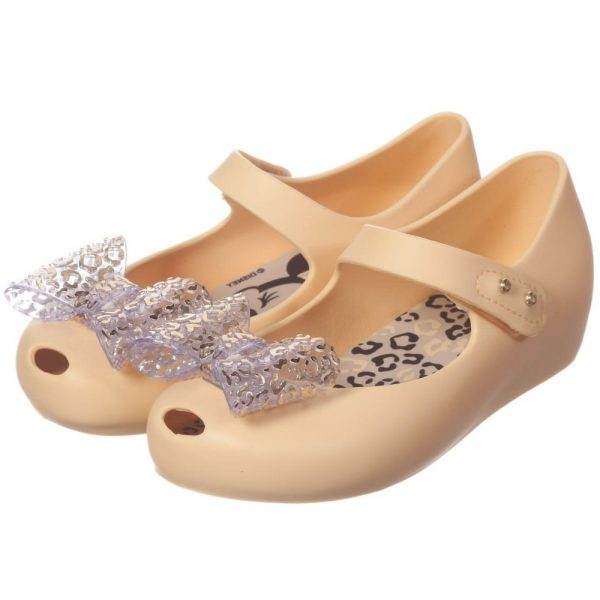 MINI MELISSA Yellow Minnie Mouse Jelly Shoes with Bow5