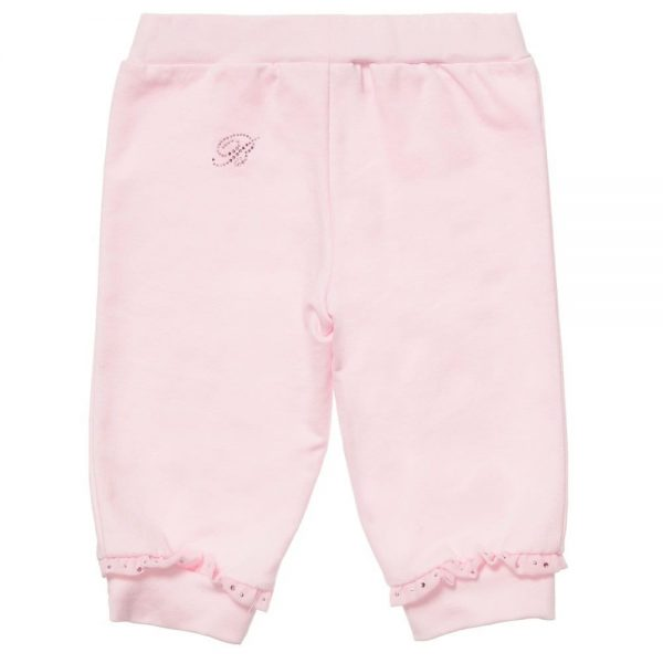MISS BLUMARINE Girls Pink Frill & Diamante Trim Tracksuit3