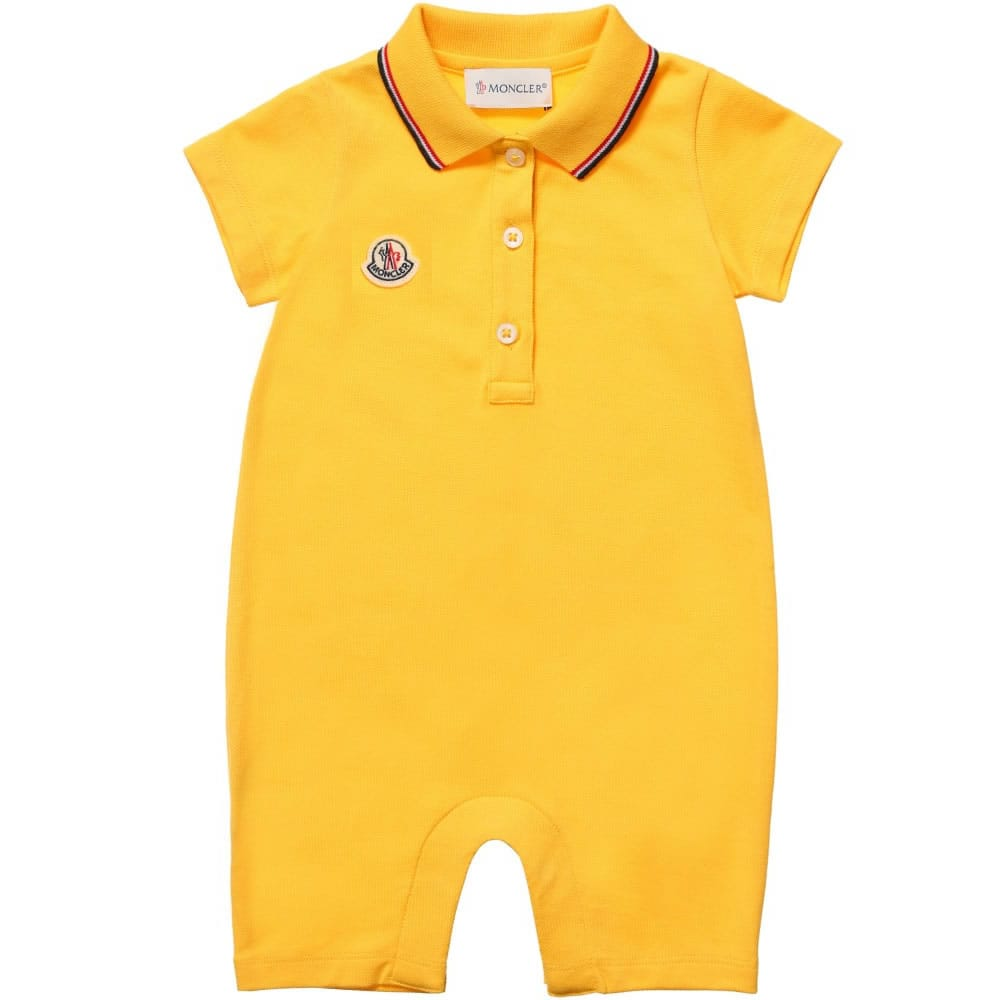 98ef3a8fe4fa buy best 24f56 4cf4c moncler baby boys blue ivory polo shortie ...