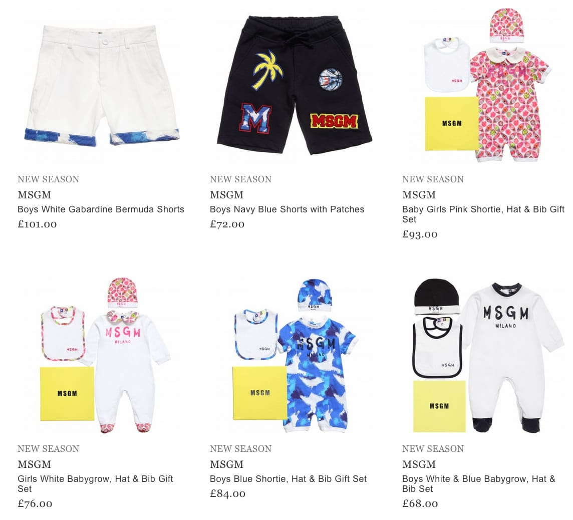 MSGM Children & Baby Clothing