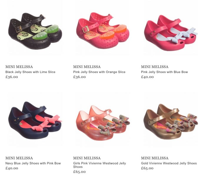 Mini Melissa Girls Footwear