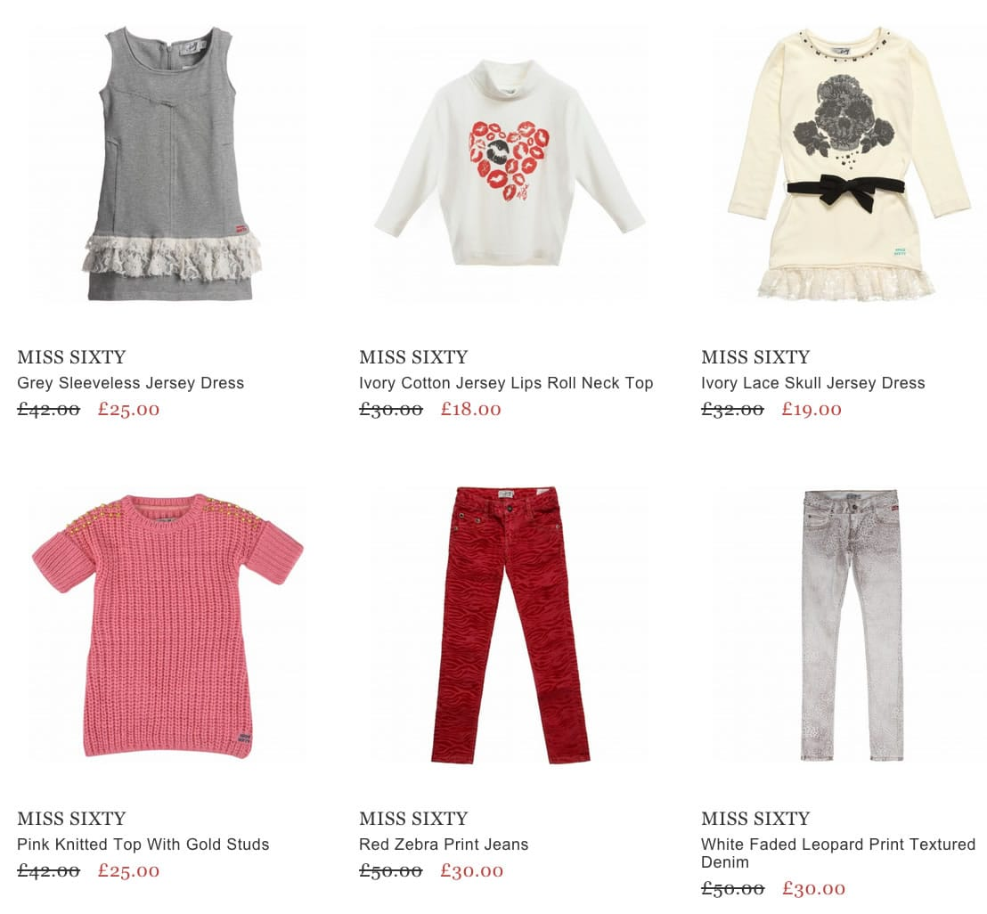 Miss Sixty Designer Girls Clothing