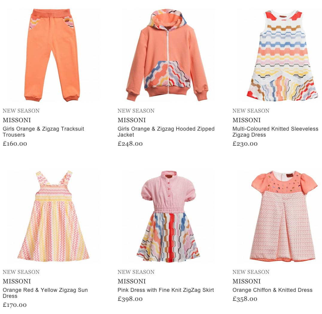 Missoni Luxury Kids Clothes