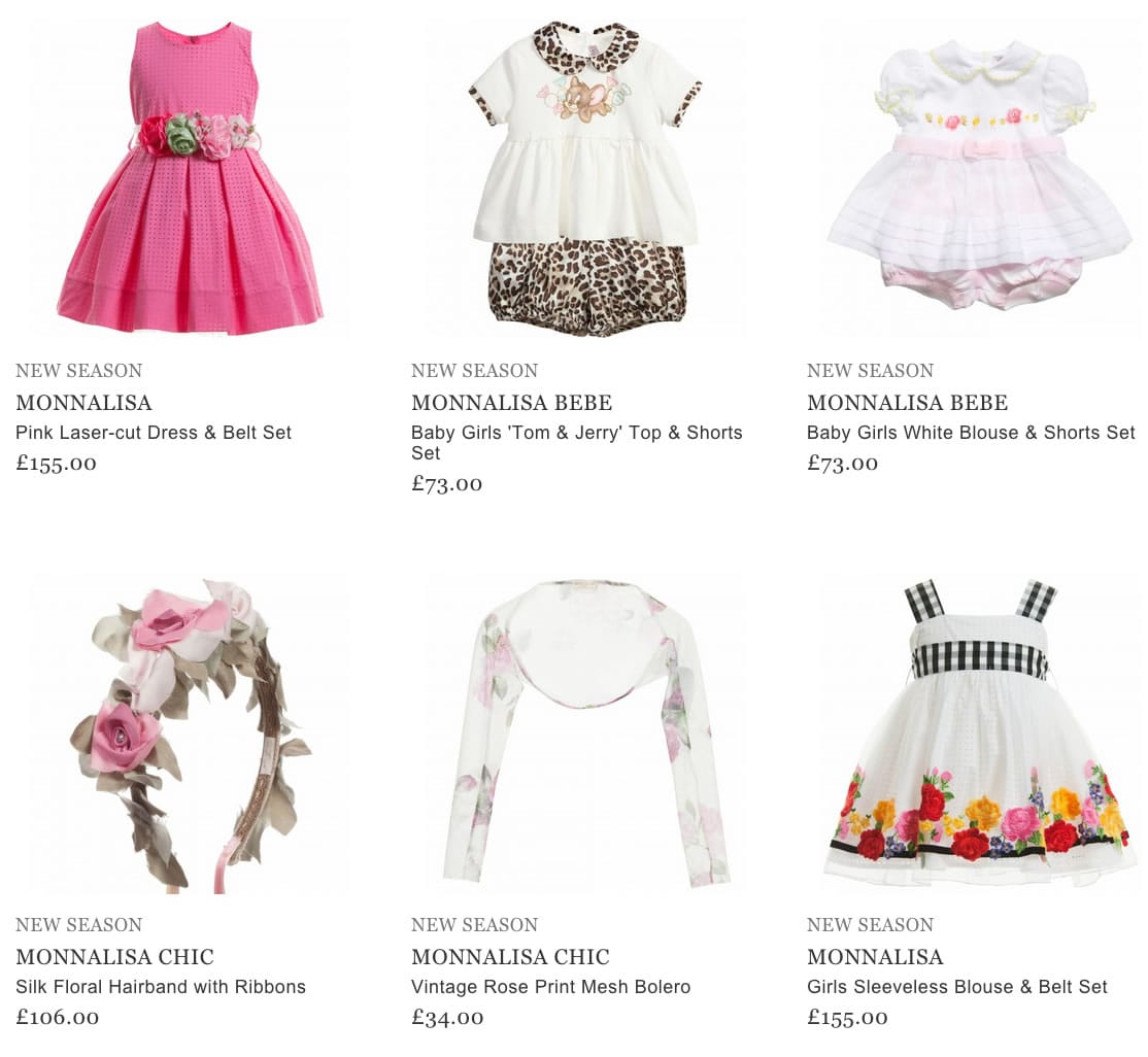 Monnalisa Girls Clothing & Accessories
