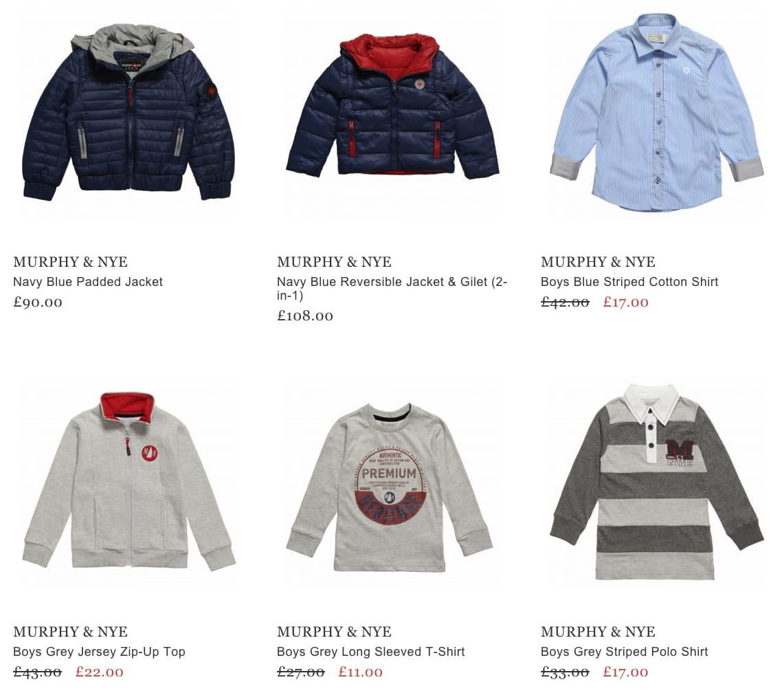 Murphy & Nye Boys Clothing