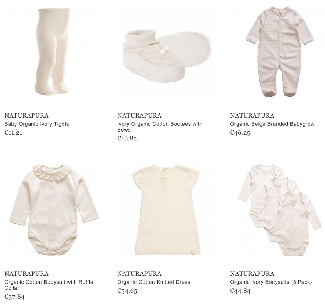 Naturapura baby clothes