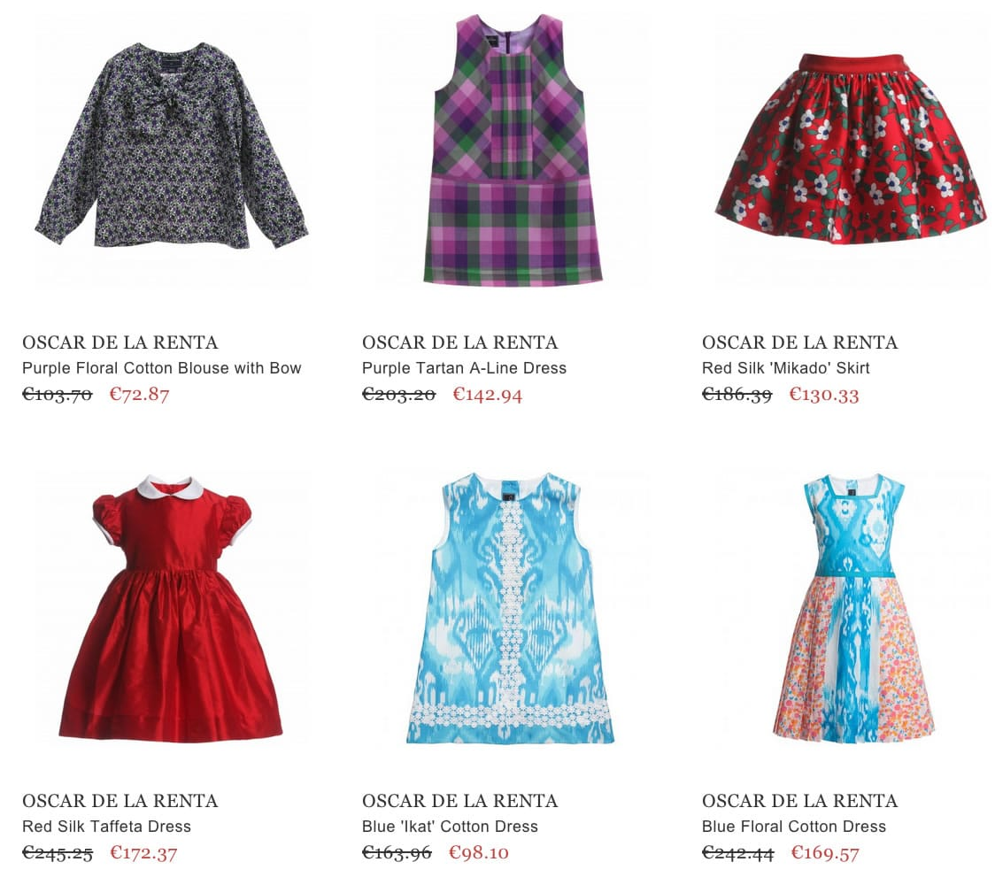 OSCAR DE LA RENTA children clothes