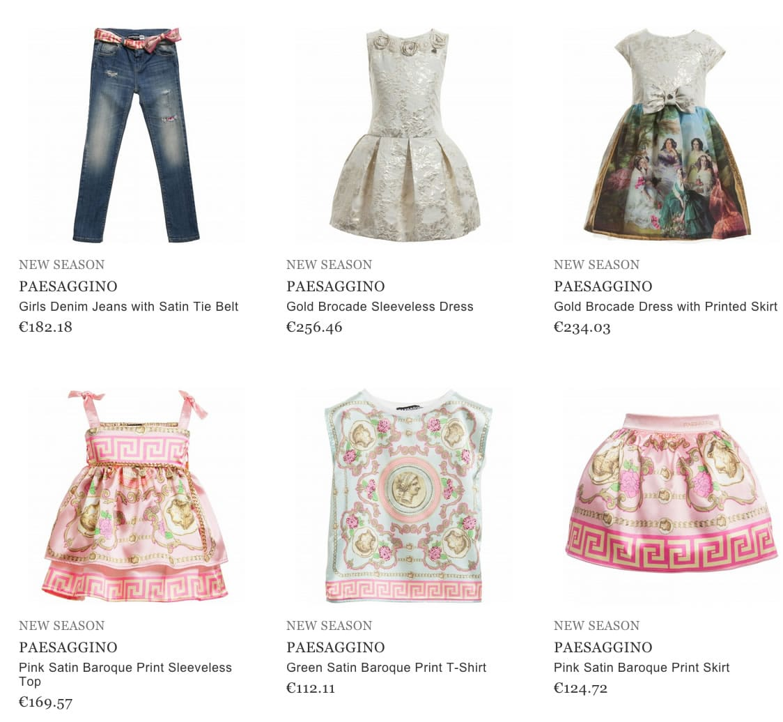 PAESAGGINO girls clothes