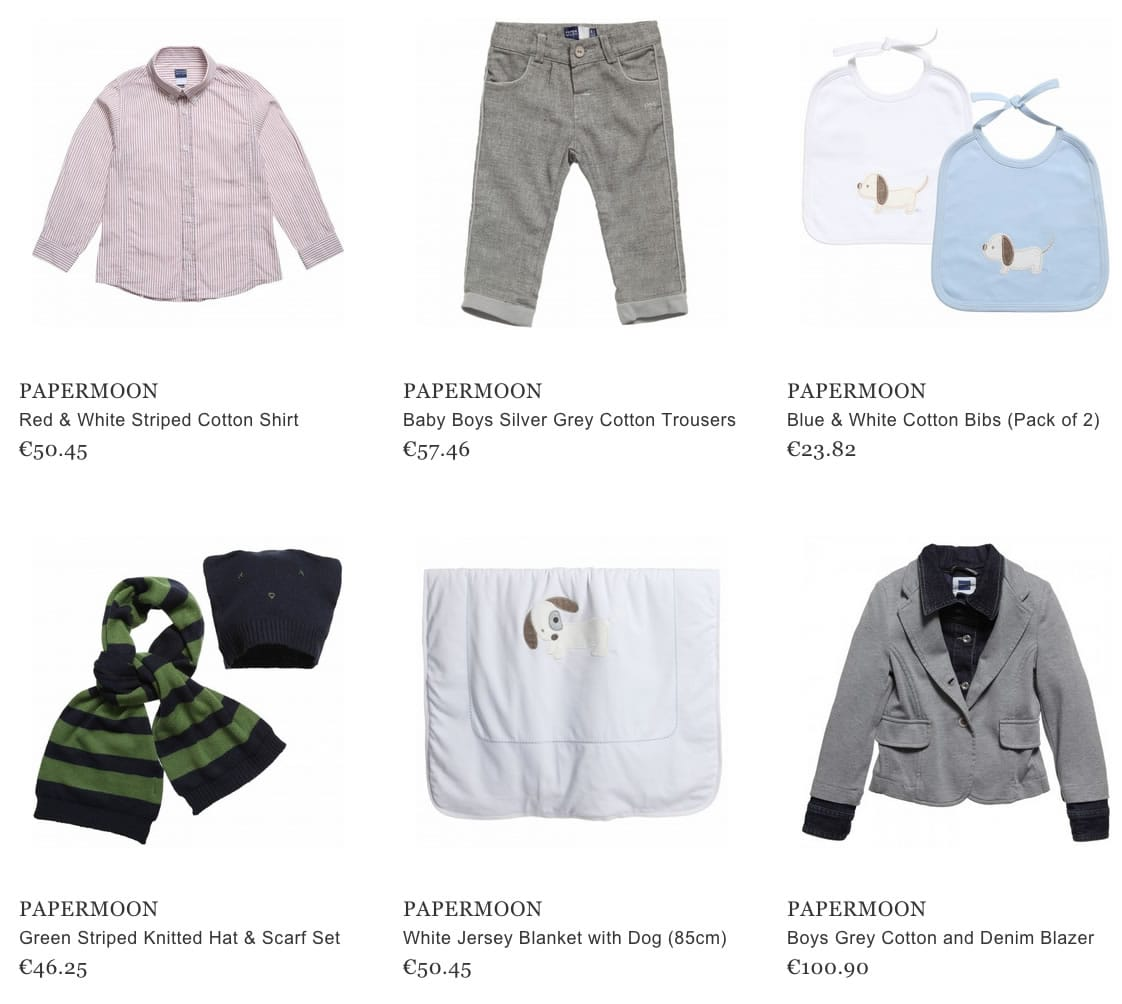Papermoon children clothes & accessories