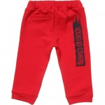ROBERTO CAVALLI Baby Boys Red Cotton Jersey Trousers 1