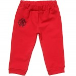 ROBERTO CAVALLI Baby Boys Red Cotton Jersey Trousers