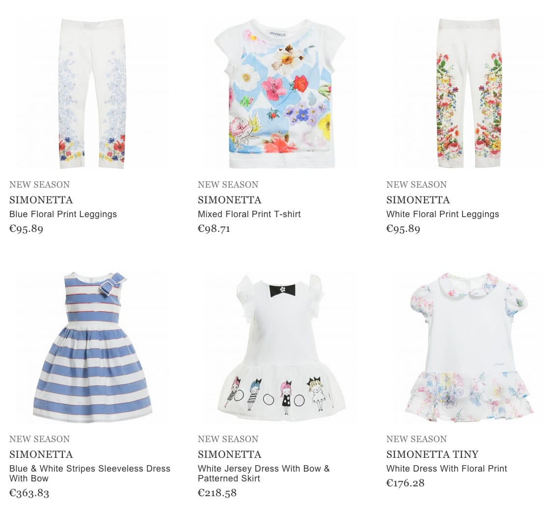 Simonetta Children Clothing