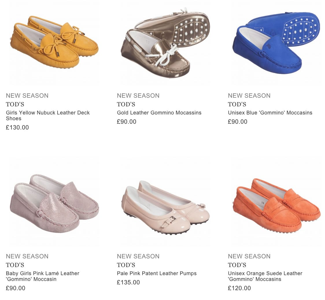 TOD'S designer kids shoes