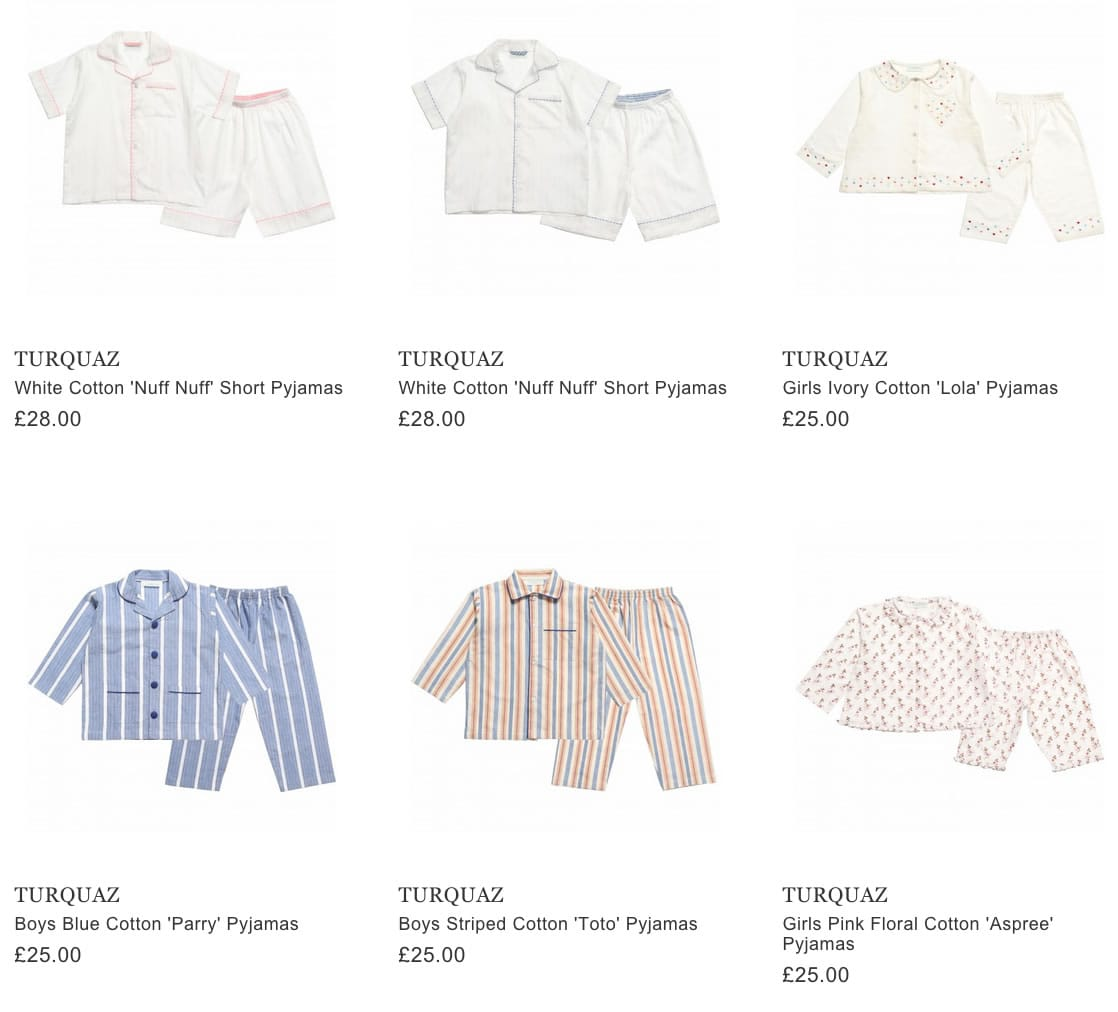 TURQUAZ children pyjamas