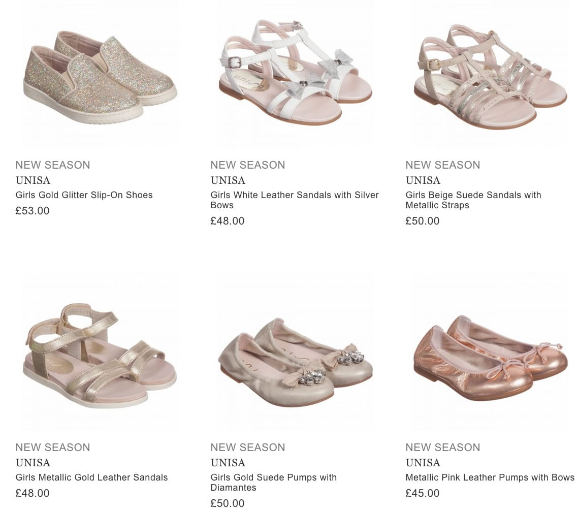 UNISA children shoes