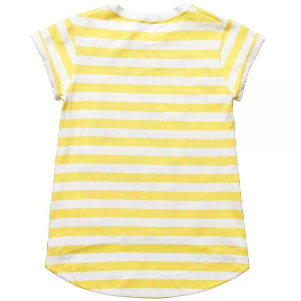 DENNY ROSE YOUNG Girls Yellow Striped Cotton T-Shirt 2
