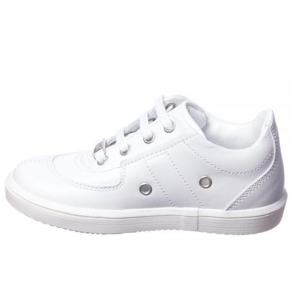 DIOR Boys White Leather Trainers 2