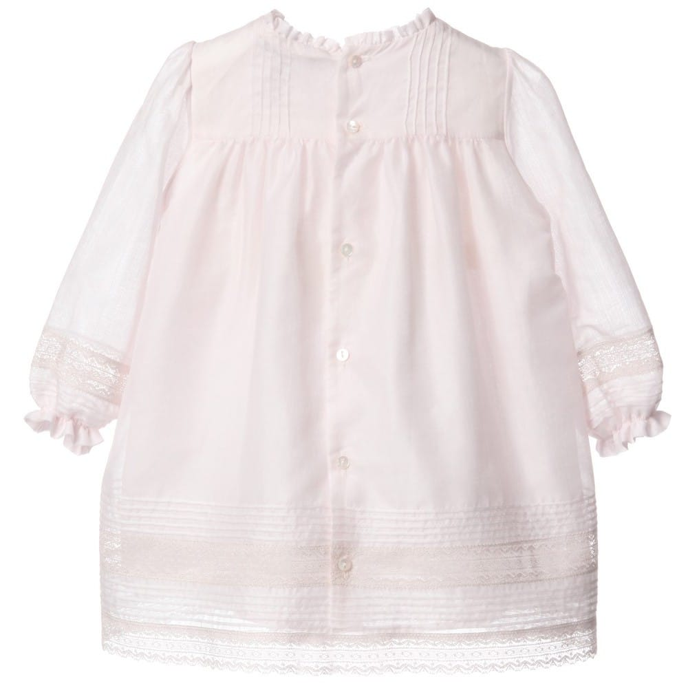 Dior Pink Cotton Lace Dress With Bloomers