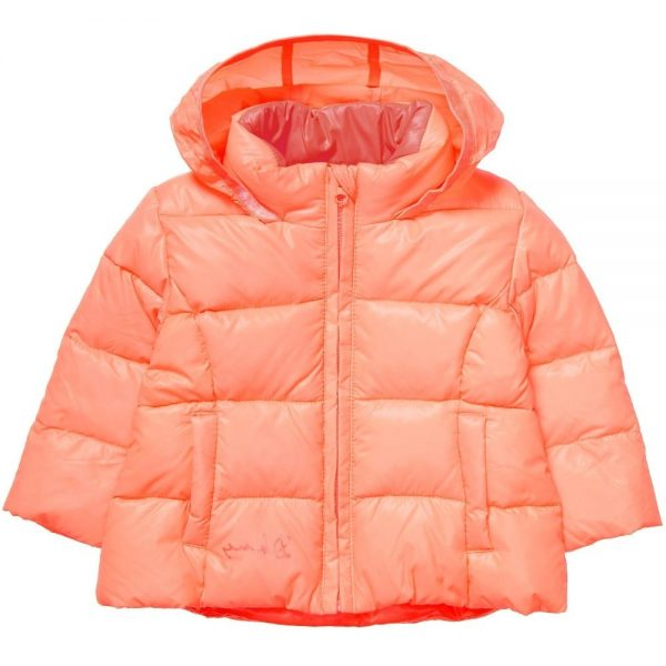 DKNY Baby Girls Orange Down Padded Coat 3