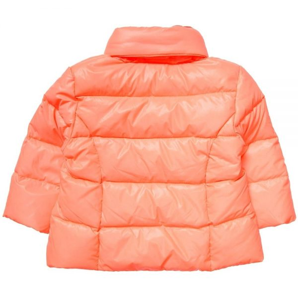 DKNY Baby Girls Orange Down Padded Coat 5