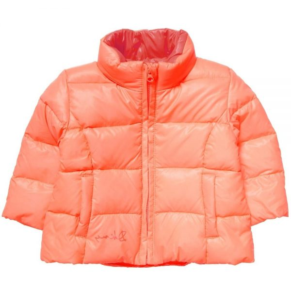 DKNY Baby Girls Orange Down Padded Coat