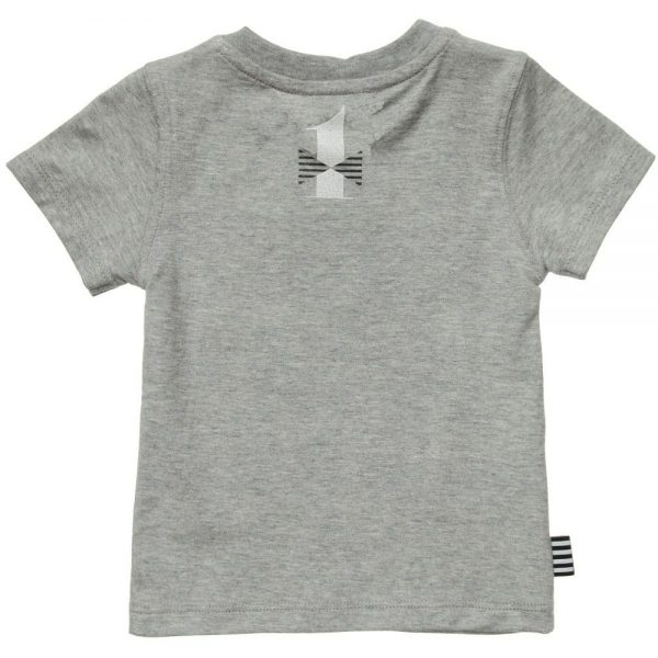 DKNY Boys Grey 'My First Tee Shirt' Cotton T-Shirt 1
