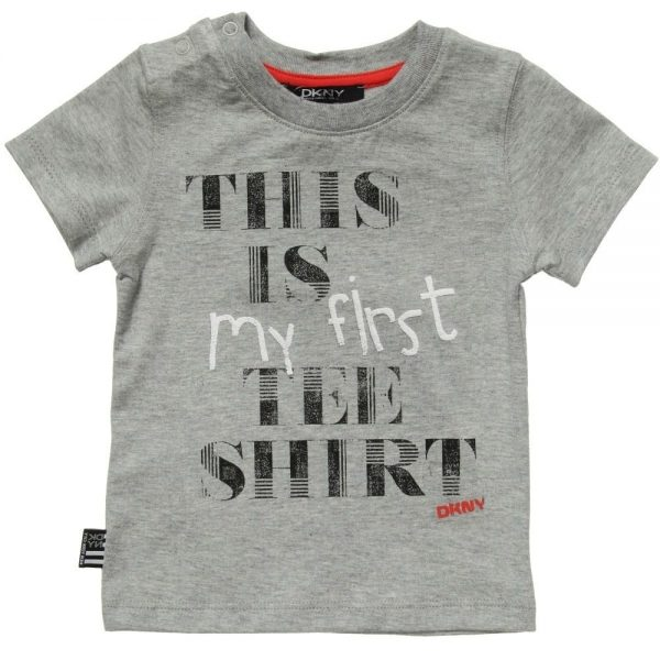 DKNY Boys Grey 'My First Tee Shirt' Cotton T-Shirt